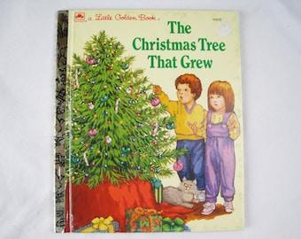The Christmas Tree That Grew – Vintage Children's Little Golden Book – 458-02