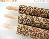 ON SALE 3 ANY pattern Rolling Pin Set. Lazer engraved embossing rolling pins for homemade cookies. Choose your patterns! Gift for mother gra