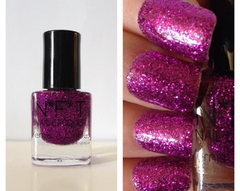 N12 Tickled Pink Glitter Nail Polish / Indie Lacquer