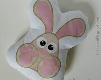 Digital print Bunny pillow