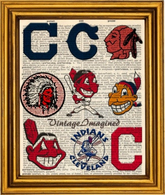 Cleveland Indians Logo History Dictionary Art By