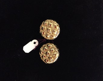 Gold Carolee clip on earrings