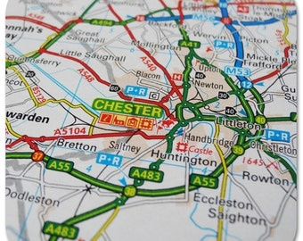 Chester Map Coasters