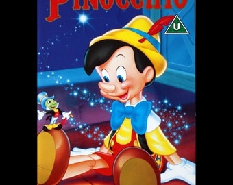 Pinocchio Video Cover Centred and Mounted on quality A4 Card Redey to Frame