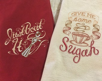 Set of 2 Sassy Kitchen Towels
