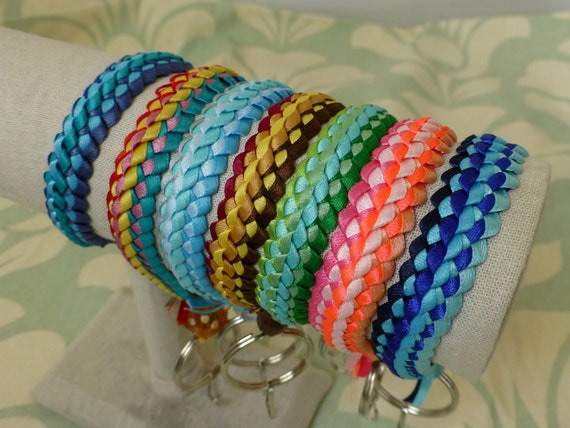 Items Similar To Double Braid Ribbon Lei Key Chain All