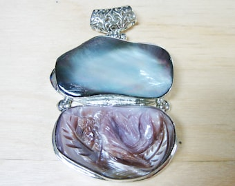 Double Mother of Pearl Drop Pendant