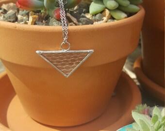 Snake skin necklace