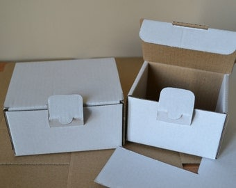 Pack of 10 Small cardboard boxes 110mm x 80mm x 65mm / 4.33x3.15x2.55""