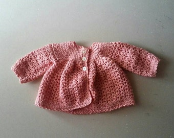 Baby Girl Crochet Sweater, Infant Jacket