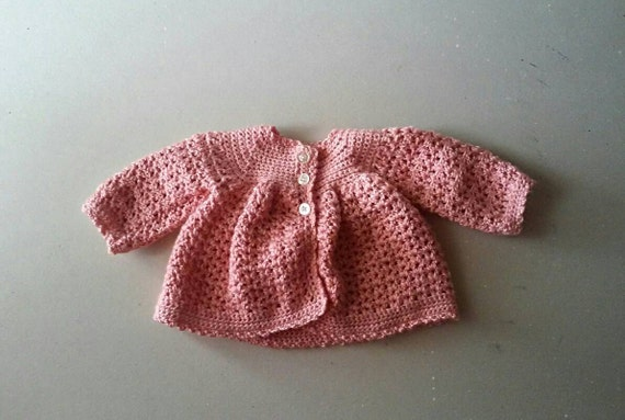 Baby Girl Crochet Sweater, Infant Jacket