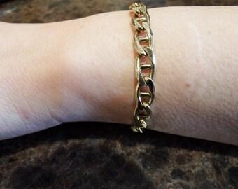 """10k Gold Bracelet 7.25"""" L with Lobster Clasp 16.8 grams"""