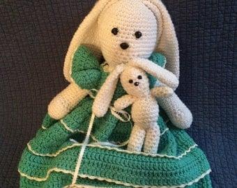 Knit Rabbit and Baby Bunny/Crochet Bunny