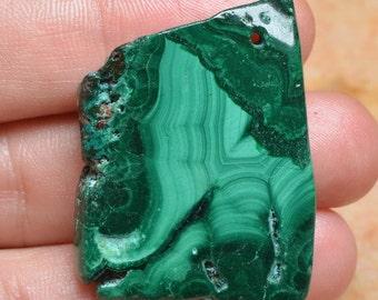 Natural Malachite pendant bead ( #J875)