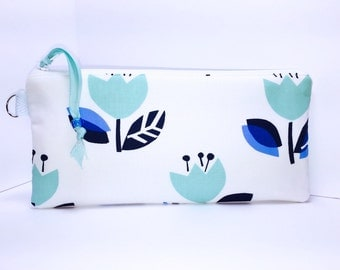 Fresh Tulips Waterproof Pouch, Zipper Makeup Bag, For Reusable Feminine Pads, Cosmetic Pouch, Lunch Bag, Pencil Case, Project Bag