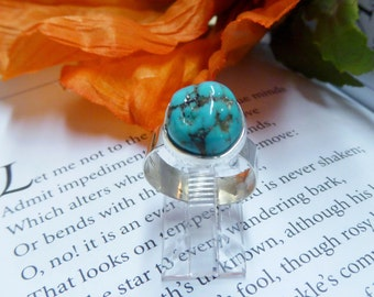 Bright Blue Nevada Turquoise Ring