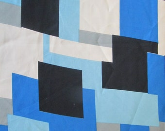 3.25 yds-Light weight polyester with a geometric print-3.25 yds