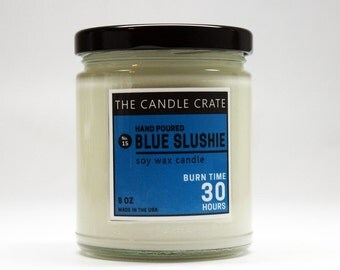 Blue Slushie Highly Scented Hand Poured Soy Wax Candle