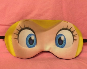 Cosplay Sleep Mask - Princess Peach from Mario Video Games