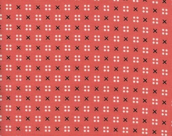 1 Yard Penny Arcade by Kimberly Knight for Cotton and Steel 3031-2 x Dot Pink