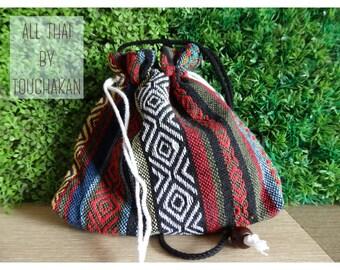 Handmade pouch (long strap)  (Code:P3)