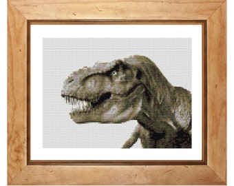 Tyrannosaurus Dinosaur Counted Cross Stitch Kit