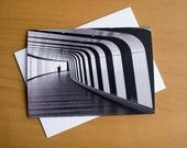 A6 greeting card, London underground, London Greeting card, blank greeting card, Kings Cross, black and white, photographic greeting cards