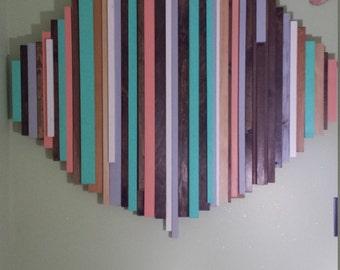 Reclaimed wood art