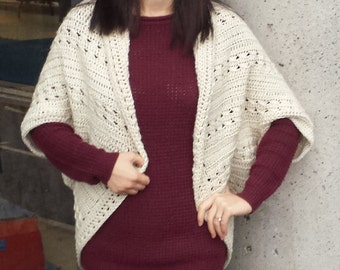 Easy Cable Crochet Shrug Pattern
