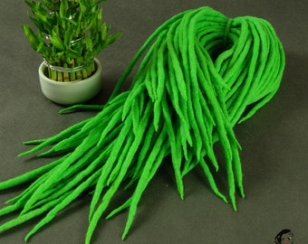 "Wool Dreadlocks Dreads "" Spring Green "" DE"