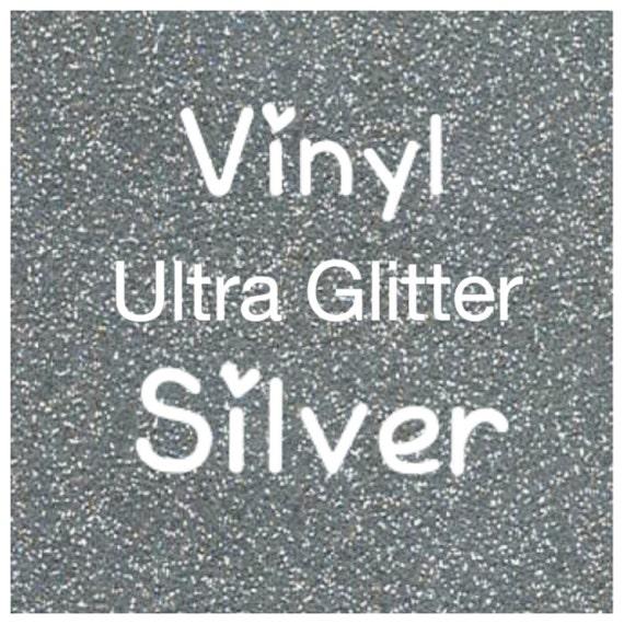Silver Glitter Vinyl Silver Vinyl Craft Vinyl Permanent