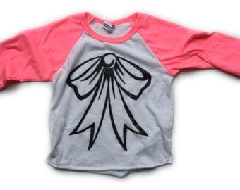 kids big bow tee