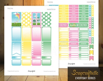 Simply Spring Printable Planner Stickers for the Classic MAMBI Happy Planner