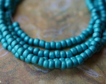 Matte Turquoise, Seed Beads, Toho Beads, N2291