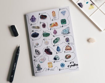 Gemstones A5 Notebook