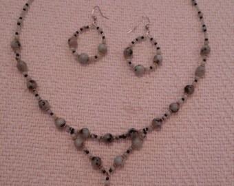 Kiwi Jasper Necklace and Earring Set