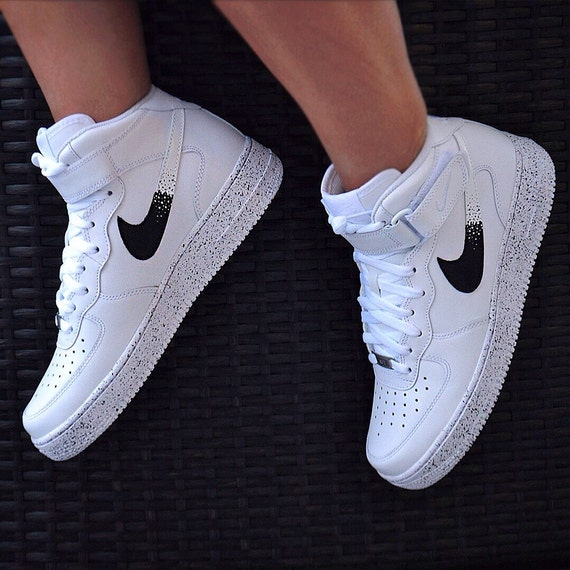 886908d776 ... Custom Nike Af1: Custom Nike Air Force 1 Oreo AF1 By UnleashedKustoms  On Etsy