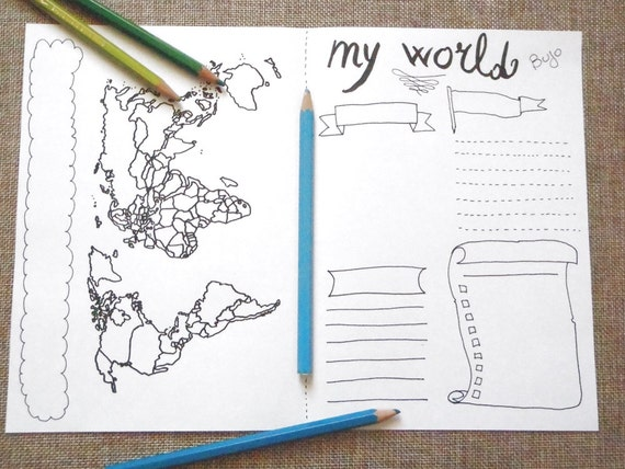 World map journal monthly journaling visited places to visit world map journal monthly journaling visited places to visit sales printable plan traveler agenda tourist notebook download lasoffittadiste sciox Images