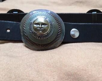 Lovely Tabra Black leather Belt.