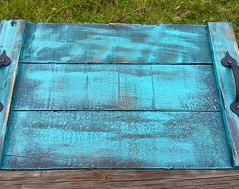 Rustic, Distressed Pallet Wood Tray