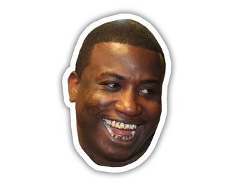 Gucci Mane Face Sticker Everybody Looking Laptop Vinyl Decal Sticker