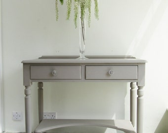 Up-Cycled Console table painted in custom blend of Annie Sloan chalk paint
