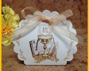 First Communion Favor box-10 pack, Communion almond box