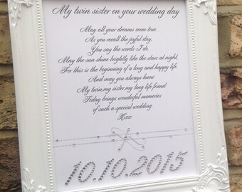 Your song lyrics or poem crystal or pearl custom print is a perfect gift for birthdays, Weddings, anniversaries, crystal names or date