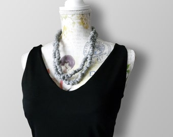 Millenodi-collar cotton Ribbon necklace-necklace-necklace-handmade jewelry