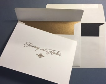 Pure Romance- Personalized  Folded Cards - 3 1/2 x 5