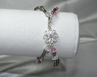 Flower and Sparkle Bracelet