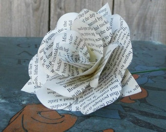 Romantic Book Paper Flower Rose