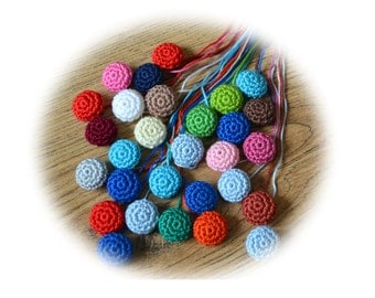 CROCHET PATTERN, Crochet Buttons, PDF file, Instant Download