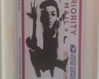 Prince stencil hand spray paint Graff 228 priority mail street art poster A3 measuring 40cm x 31cm